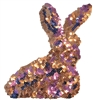 Pink Sequin Bunny Embroidered Patch