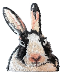 Dutch Rabbit Embroidered Patch