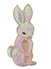 Large Iridescent Pink Sequin Bunny Applique