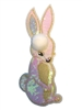 Small Iridescent Pink Sequin Bunny Applique