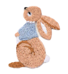 Happy Bunny Embroidered Applique
