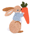 Carrot Bunny Embroidered Applique