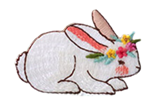 L'il Sis Bunny Embroidered Applique