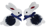 Pair of Yarn Bunnies Embroidery Patch