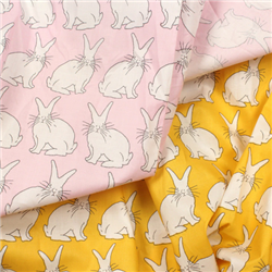 Bunny Rabbit Print Fabric