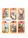 Vintage Easter Bunnies Gift Tag Set