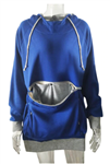 All Things Bunnies Blue Hoodie with Small Animal Carry Pouch