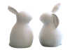 White Ceramic Bunny Figurines