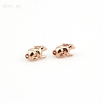 Rose Gold Tone Rabbit Stud Earrings