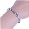 Tanzanite and Sterling Silver Bunny Bracelet