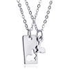 Best Friends Bunny Cutout Necklaces