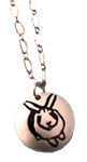 Stamped Bunny Necklace