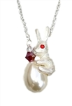 Teardrop Pearl Bunny Necklace