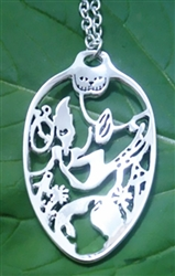 "Alice in Wonderland ""Down the Rabbit Hole"" Spoon Necklace"