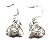 .925 Sterling Silver Flower Bunny Dangle Earrings