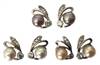 .925 Sterling Silver and Freshwater Pearl Bunny Earrings