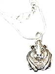 .-925 Sterling Silver Guinea Pig Necklace