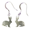 Stainless Steel Dangle Bunny Earrings