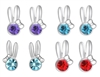 Crystal Rabbit Stud Earrings