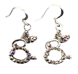 Black Crystal Bunny Earrings