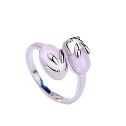 Passing Bunnies Adjustable Metal Ring
