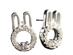 .925 Sterling Silver Rabbit Earrings