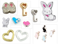 Charms for Custom Bunny Floating Necklace/Keychain