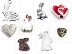 Charms for Custom Bunny Floating Necklace and Keychain