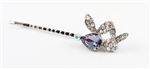 Crystal Rabbit Hair Pin/Bobbi Pin