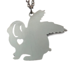 Lop Bunny with Wings Memory Necklace