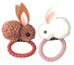 Pom Bunnies Elastic Hair Ties