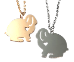 Lop Rabbit with Heart Necklace