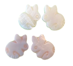 Mother of Pearl Bunny Stud Earrings