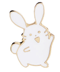 Happy Rabbit Pin/Brooch