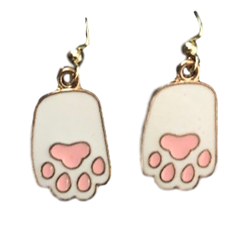 Bunny Paws Dangle Earrings
