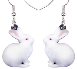 Acrylic Bunny Dangle Earrings