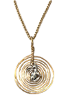 Gold Twisted Wire Rabbit Pendant Necklace