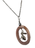 Silver and Pink Shell Rabbit Pendant Necklace