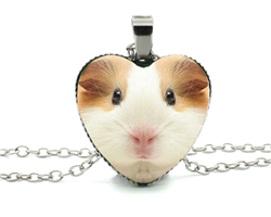 Guinea Pig Heart Necklace