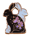 Bunnies & Flowers Brooch/Pin