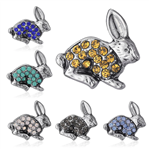 Crystal Rabbit Pin/Brooch - 6 Colors