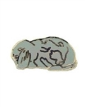 Gray Lop Rabbit Pin/Brooch