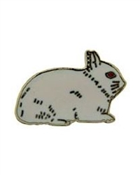Netherland Dwarf Rabbit Pin/Brooch