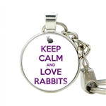 Bunny Button Keychains