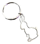 Silver Silhouette Bunny Keychain