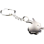 I Love Bunnies Heart Cutout Keychain