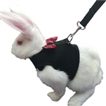 Rabbit Bowtie Vest Harness with Leash