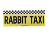 Rabbit Taxi Car Magnet