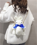 White Fuzzy Bunny Purse/Backpack