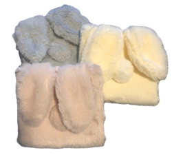Soft Bunny Clutch/Storage Bag